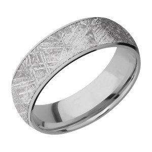 Lashbrook 7D16/METEORITE Titanium Wedding Ring or Band