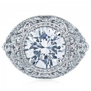 HT2612RD10 Platinum Tacori RoyalT Engagement Ring