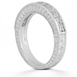 Taryn Collection Platinum Wedding Ring TQD B-653
