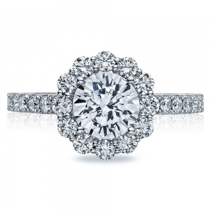 37-2RD7 Platinum Tacori Full Bloom Engagement Ring