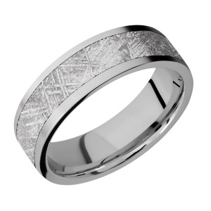 Lashbrook 7F15/METEORITE Titanium Wedding Ring or Band