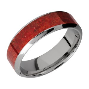 Lashbrook 7HB14/MOSAIC Titanium Wedding Ring or Band