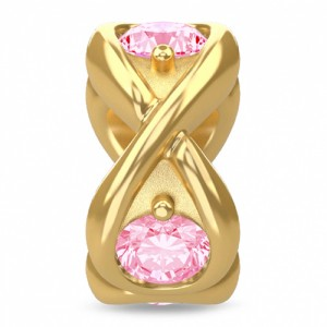 Endless Jewelry Pink Infinity Ocean 18k Gold Plated Charm 51351-4