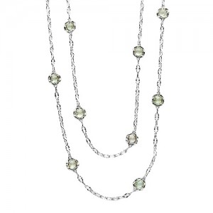 SN10812 Tacori 18k925 Necklace Silver & Gold