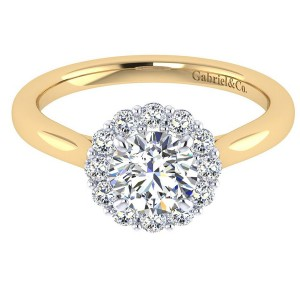 Gabriel 14 Karat Contemporary Engagement Ring ER7498M44JJ