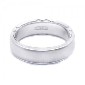 Tacori 617WS Platinum Crescent Wedding Band
