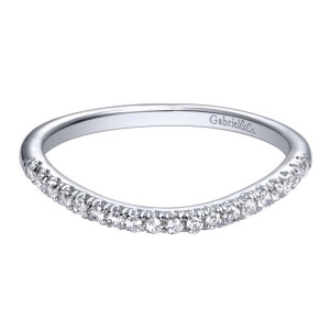 Gabriel 14 Karat Contemporary Wedding Band WB10146W44JJ