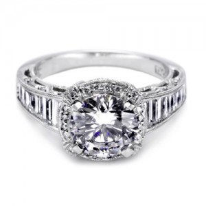 Tacori Crescent Platinum Engagement Ring HT2531RD12X