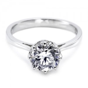 Tacori Platinum Solitaire Engagement Ring 2504RD7
