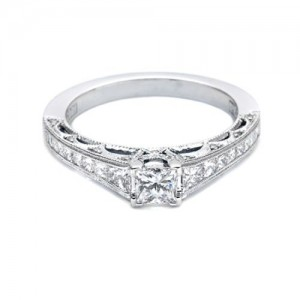 Tacori Platinum Crescent Engagement Ring HT2510PR512X