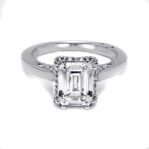 Tacori Platinum Dantela Engagement Ring 2620ECLG