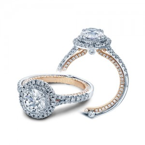 Verragio Couture-0425DR-TT Platinum Engagement Ring