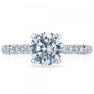 HT2545RD75 Platinum Tacori Classic Crescent Engagement Ring