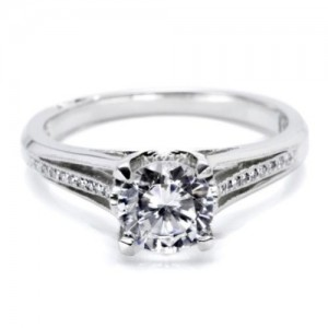 Tacori Platinum Simply Tacori Engagement Ring 2601RD7