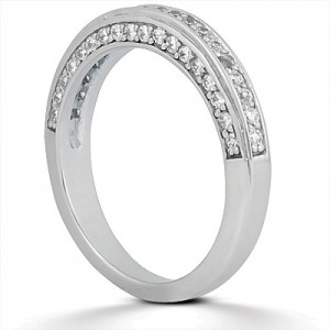Taryn Collection Platinum Wedding Ring TQD B-708