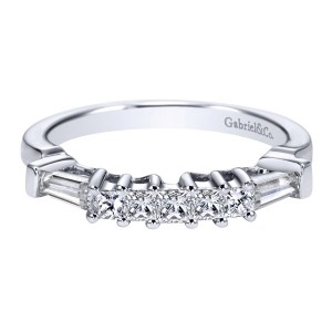 Gabriel 14 Karat Contemporary Wedding Band WB3693W44JJ