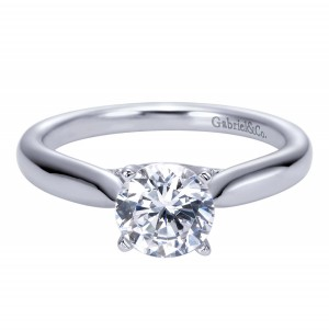 Gabriel Platinum Contemporary Engagement Ring ER7894PTJJJ