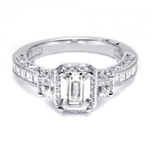 HT2535SM12X Tacori Crescent Platinum Engagement Ring