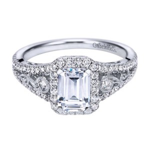 Gabriel 14 Karat Contemporary Engagement Ring ER7740W44JJ