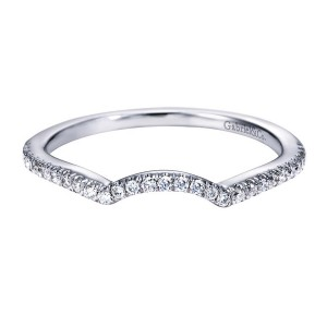 Gabriel 14 Karat Contemporary Wedding Band WB7806W44JJ