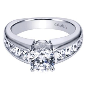 Gabriel 14 Karat Contemporary Engagement Ring ER4184W44JJ