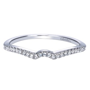 Gabriel 14 Karat Contemporary Wedding Band WB8129W44JJ