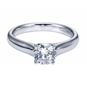 Gabriel Platinum Contemporary Engagement Ring ER6600PTJJJ