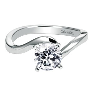 Gabriel 14 Karat Contemporary Engagement Ring ER6682W4JJJ