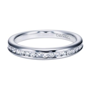 Gabriel 14 Karat Contemporary Wedding Band WB7438W44JJ