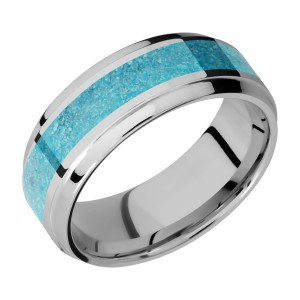 Lashbrook 8B14(S)/MOSAIC Titanium Wedding Ring or Band