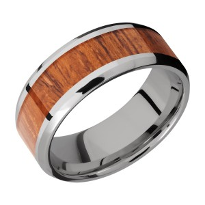 Lashbrook 8B15(NS)/HARDWOOD Titanium Wedding Ring or Band