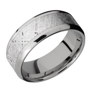 Lashbrook 8B15(NS)/METEORITE Titanium Wedding Ring or Band