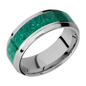 Lashbrook 8B15(S)/MOSAIC Titanium Wedding Ring or Band