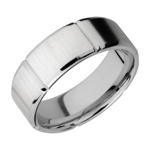 Lashbrook 8B6SEG Titanium Wedding Ring or Band