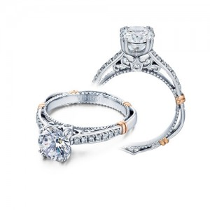 Verragio Parisian-101M Platinum Engagement Ring