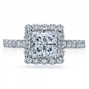 37-2PR6 Platinum Tacori Full Bloom Engagement Ring