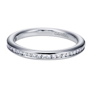 Gabriel 14 Karat Contemporary Wedding Band WB6674W44JJ