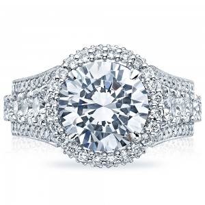 HT2613RD10 Platinum Tacori RoyalT Engagement Ring