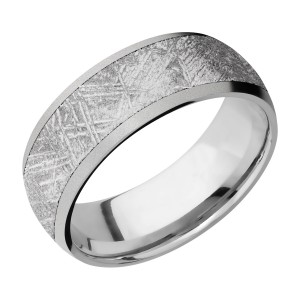 Lashbrook 8D16/METEORITE Titanium Wedding Ring or Band