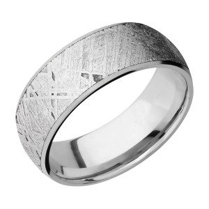 Lashbrook 8D17/METEORITE Titanium Wedding Ring or Band