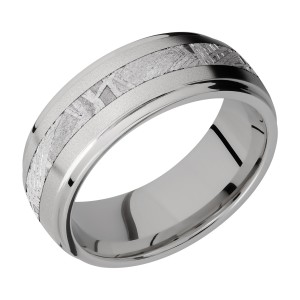 Lashbrook 8DGE13/METEORITE Titanium Wedding Ring or Band