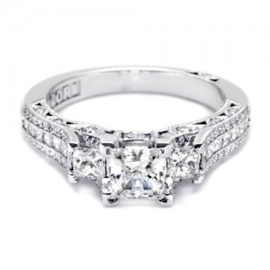 Tacori Crescent Platinum Engagement Ring HT2514PR512X