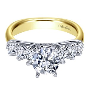 Gabriel 14 Karat Contemporary Engagement Ring ER3956M44JJ