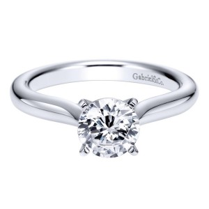 Gabriel 14 Karat Contemporary Engagement Ring ER6684W4JJJ