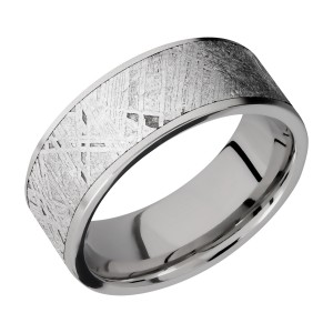 Lashbrook 8F17/METEORITE Titanium Wedding Ring or Band