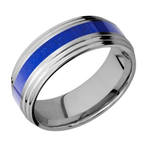 Lashbrook 8F2S13/MOSAIC Titanium Wedding Ring or Band