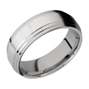 Lashbrook 8F2S Titanium Wedding Ring or Band