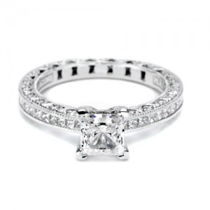 Tacori Crescent Platinum Engagement Ring HT2430SOL