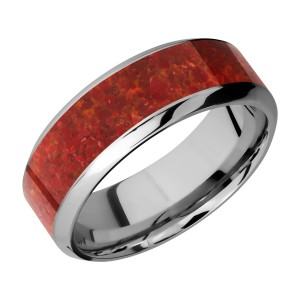 Lashbrook 8HB15/MOSAIC Titanium Wedding Ring or Band