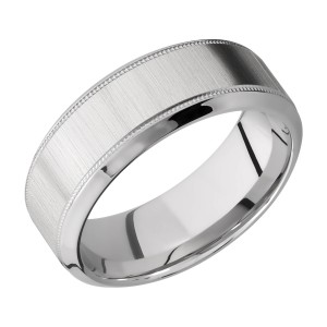 Lashbrook 8HB2UMIL Titanium Wedding Ring or Band